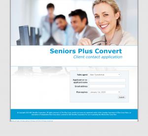 Seniors Plus Conversion - Contact application